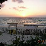 view from Pasion Marina at sunset