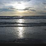 Sonnenuntergang Strand ca. 18.30 Uhr Ortszeit
