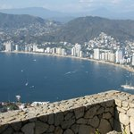 Acapulco Bay -resort is south of here
