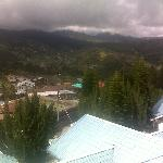 view kundasang town from balcony