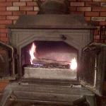 The wood-burning stove