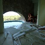Our balcony and plunge pool