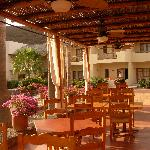 View of the Hotel Tripui Rooms and dining area