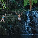 Swimming at Antelope Falls