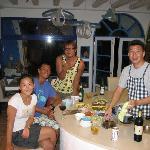 Host, staff, and a neighbor