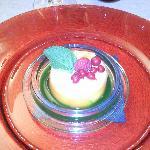 assiette de mon voisin... la chose verte et un réduit de persil... à tombé!!