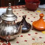 les petits dèj du Riad, délicieux...