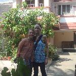In front of Sithara Homestay