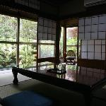 View to the garden with shoji open