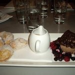 White chocolate and raspberry brioche dumplings