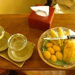 Tägliches frisches Obst auf dem Zimmer (for free)