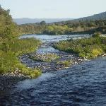 The river outside