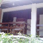 Balcony outside Room overlooking pool area