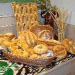 Uzbek Bread in the breakfast restaurant
