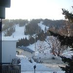 View to ski hill from room balcony