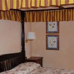 Il letto a baldacchino dell'appartamento Chiocciola