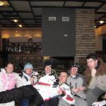 Our group in the lounge area