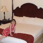 Daughter in bedroom in Baron