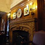 The fire place in the bar