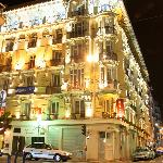 Massena hotel in the evening