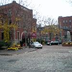 Front/side view in the fall season
