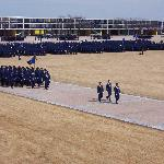 Parade Ground Formation at Air Force Academy