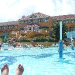 Manor Building from pool
