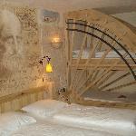 photo de la chambre et des lits superposés