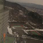 部屋からの眺め。雪景色~~
