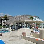 pool and beach area at Xaman Ha