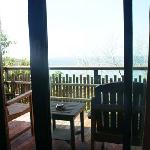 balcony of our bungalow