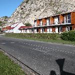 Motel viewed from street