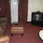 Living room in King Suite - note the old TV