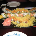 Bubba rolls, Super crunch roll and Spicy salmon roll