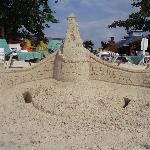Sandcastle March Breakers made in front of Grand Pineapple Resort in Negril.