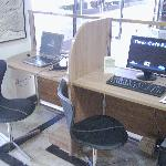 High speed internet available at front desk (in room, the service is charged)