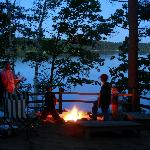 smores at campfire - black brear lodge