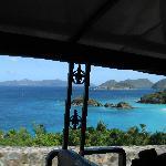 View overlooking Trunk Bay, St John USVI
