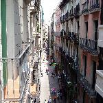 View of Las Ramblas from our room.