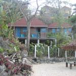 the cabins seen from the cove