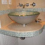 Beautiful tiled bathroom