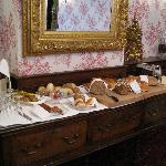 Breakfast room with bread table