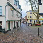 Elm Hill, Norwich.  Cobbled streets - An olde worlde shopping experience