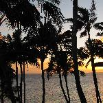 Sunset view from the lanai of Poipu Palms 301