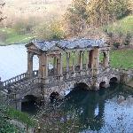 The Palladian bridge on the path down