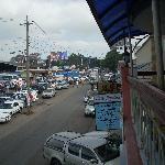 Street from restaurant balcony