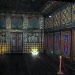 Ornately muralled rooms in the Khan's Palace
