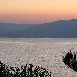 sunrise over the Sea of Galilee from room 335