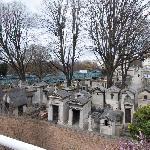 The historic Montmartre cemetery from my hotel balcony