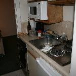 kitchen tiny in hall between rooms